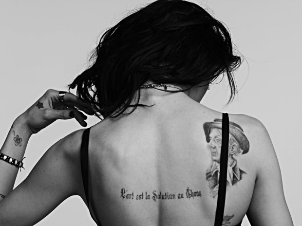 Frances Bean Cobain tattoo