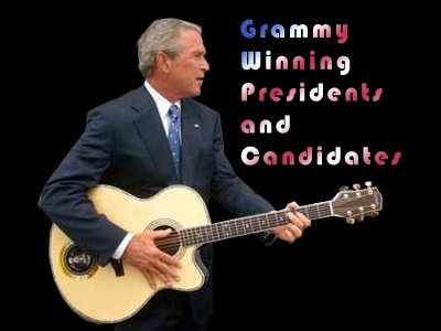 Grammy Winning Presidents and Candidates