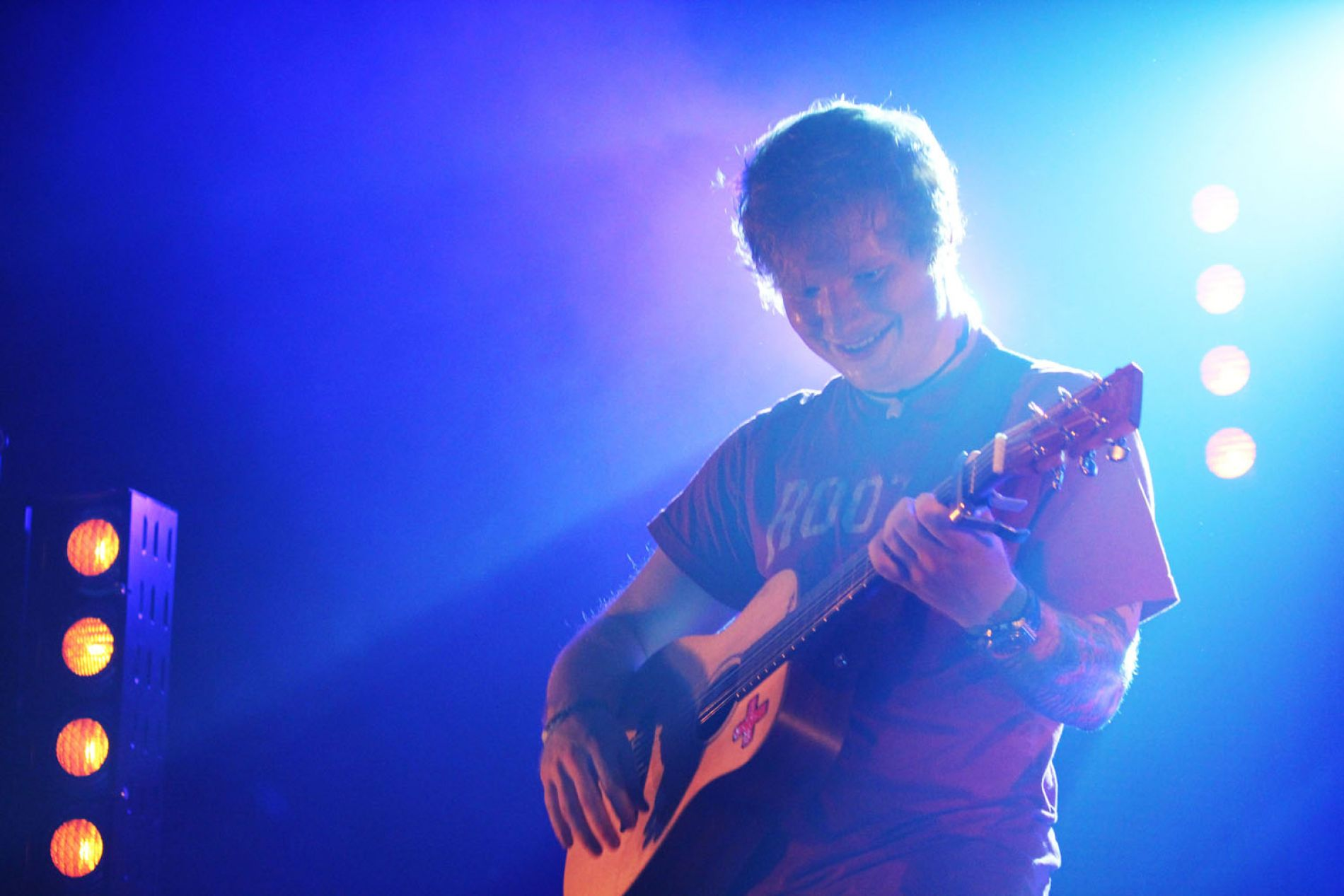 Pictures of Ed Sheeran at Olympia Theater